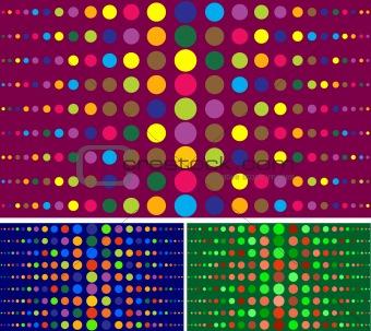 circle seamless pattern set