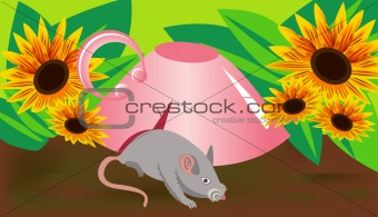 Background mouse and cup