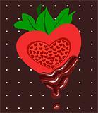 Chocolates with strawberry.