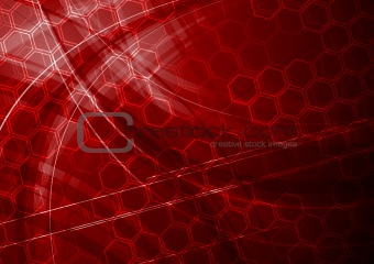 Dark red tech background