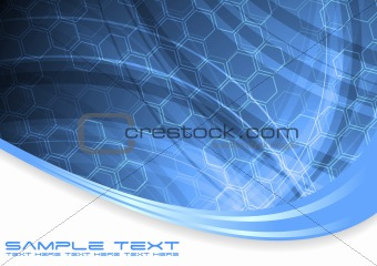 Wavy technical abstraction
