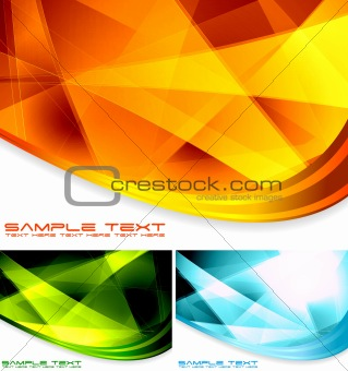 Abstract backdrops collection