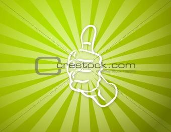 green sun light with ok hand