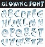 Glowing font