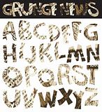 Grunge newspaper font