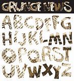 Grunge newspaper font