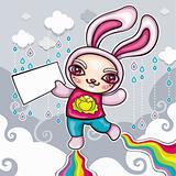 Superhero rabbit