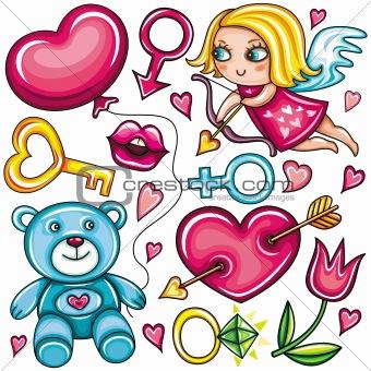 Decorative Valentine's day set - part 2