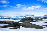 winter landscape in Antarctica