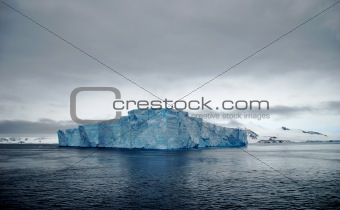 flat blue iceberg