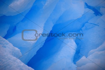 blue ice detail