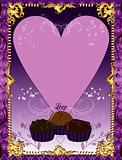 Purple Chocolate Card