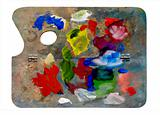 used artistic palette
