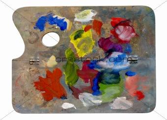 old artistic palette