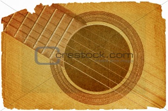 background with guitar in grunge style
