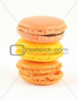 Single french macarons