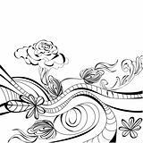 Background with decorative folder