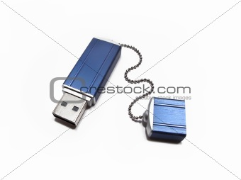flash drive isolated on white