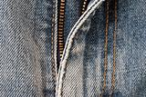Detail of of blue jeans