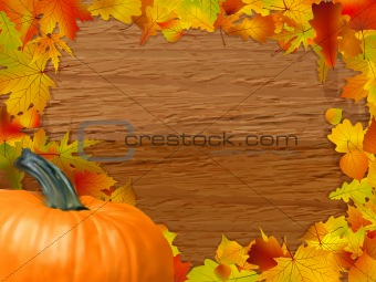 Autumn background. EPS 8