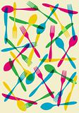Cutlery transparency pattern background