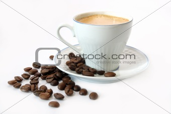 Coffee in a white mug