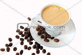 Coffee in a white mug