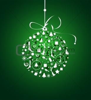 Christmas ball for your design