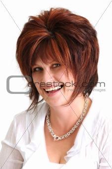 portrait of beautiful brunette woman smiling