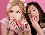 barbie beautiful girls eating diet sweet 