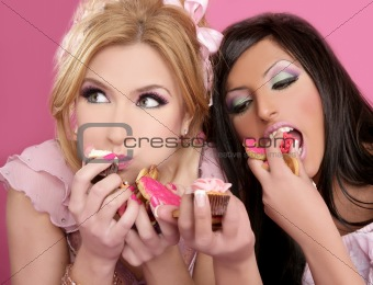 barbie beautiful girls eating diet sweet