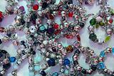 silver jewelery bracelets shop display