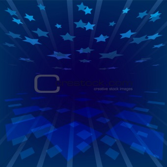 abstract background blue stars
