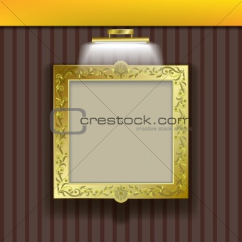 abstract layout with frame and spotlight