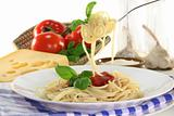 Spaghetti with tomato sauce