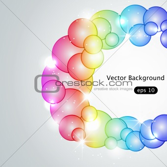 Absract bubble background