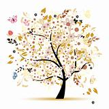 Beautiful floral tree for your design