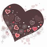 Dark heart-shaped frame