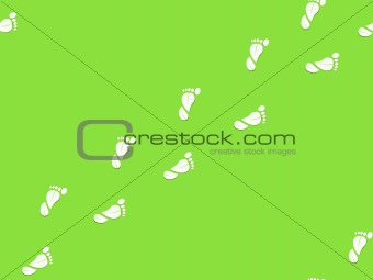 foot print in form of leaf seamless pattern