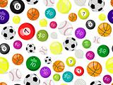 sport balls seamless pattern