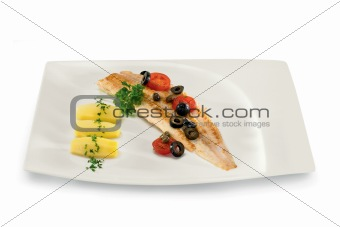 fish with olives