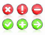 web icon buttons of validation