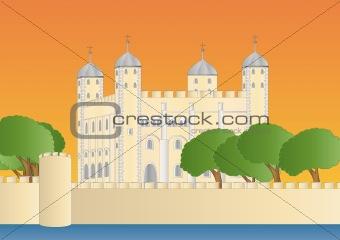 tower of London at sundown