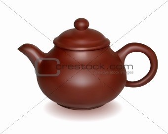 Clay brewing teapot