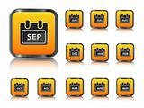 calendar month icon set
