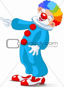 Cute Clown laughing