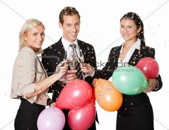 Business team selebrating success
