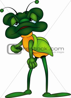 Green Long-legged Bug