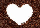 Heart from the coffee beans