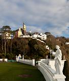 Winter scene at Portmeirion in Wales